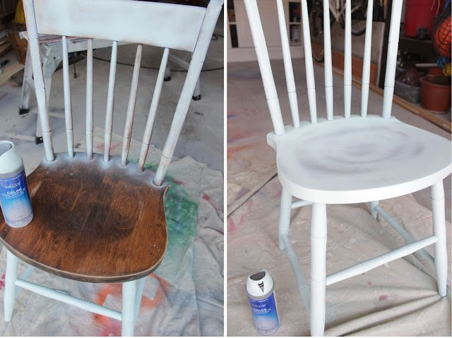 25 unique spray paint chairs ideas on pinterest painting kitchen chairs diy furniture fix and spray painted furniture