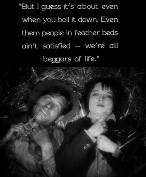 Louise Brooks. Richard Arlen. Beggars of Life. 1928.