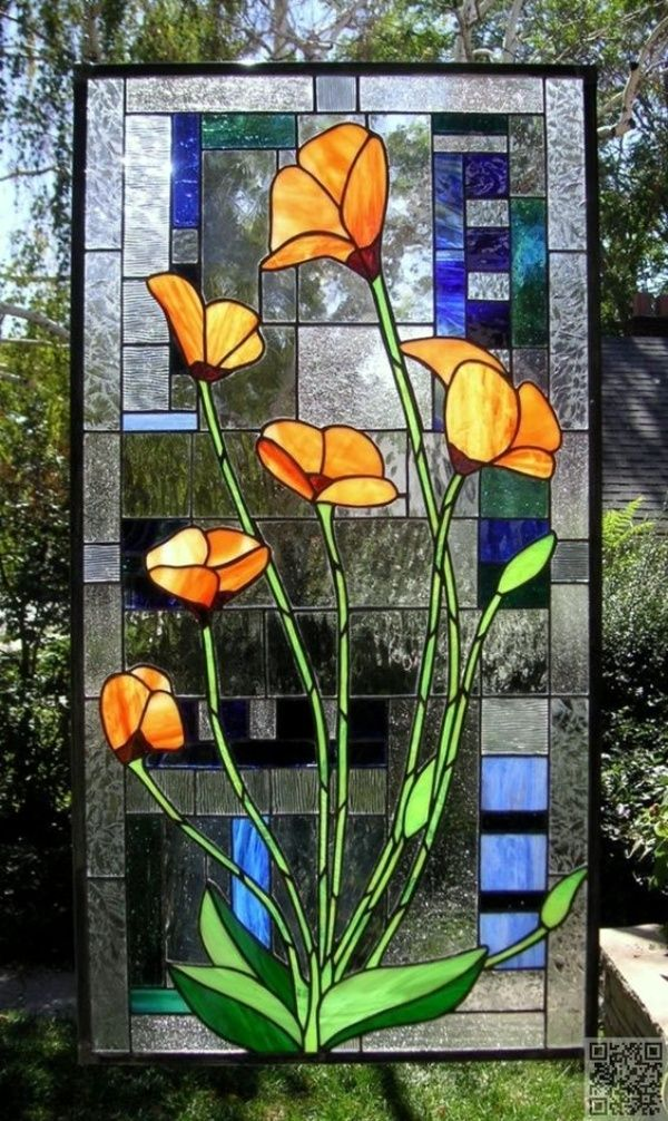 40 Glass Painting Ideas For Beginners Faux Stained Glass