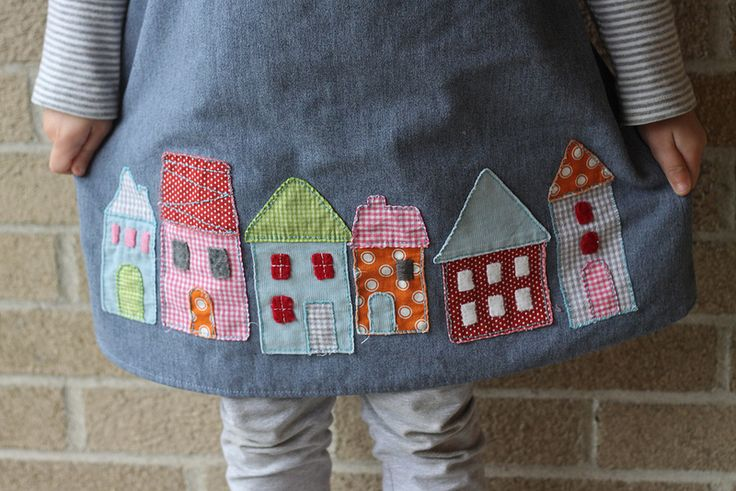 House applique along Roller Skate hem