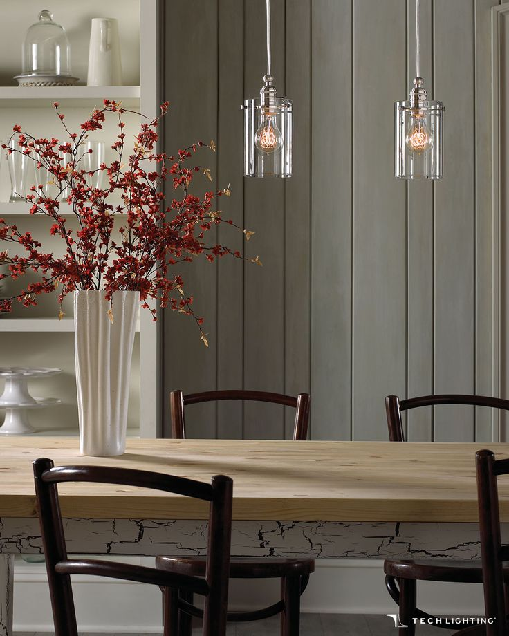 From delmarfans com · inspired by a vintage lamp socket tech lightings clark mini pendants will add class and
