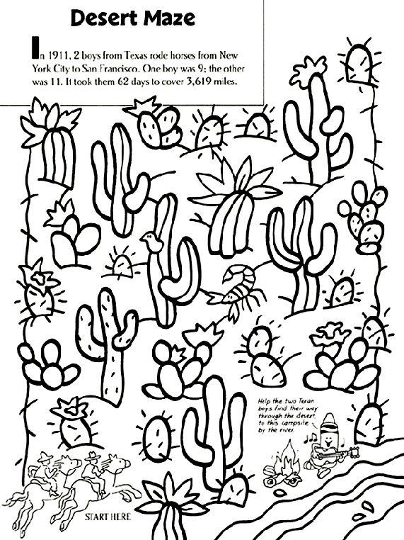 17 best Deserts images on Pinterest Desert animals, Desert crafts - best of coloring page jesus in the desert