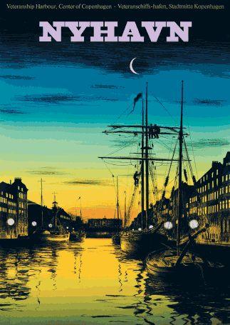 Nyhavn (New Habour in Copenhagen) - Danish artist Bo Bonfils (f. 1941)