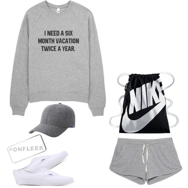 lazy day by viggihy on Polyvore featuring polyvore fashion style American Vintage Vans NIKE Keds River Island clothing
