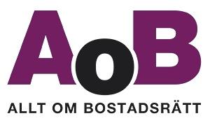 Logotype till Allt om Bostadsrätt för Bofakta Media & Förlag.