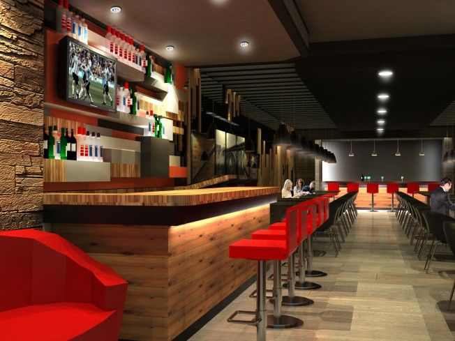 Bar casual contemporary grill hip lounge modern restaurant salad steak upscale - Moderne loungebar ...