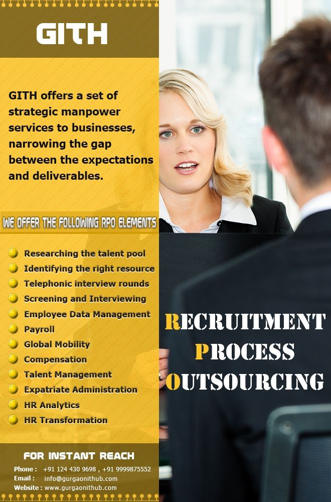 GITH offers end-to-end recruitment solution with set of strategic manpower services to businesses, narrowing the gap between the expectations and deliverables.