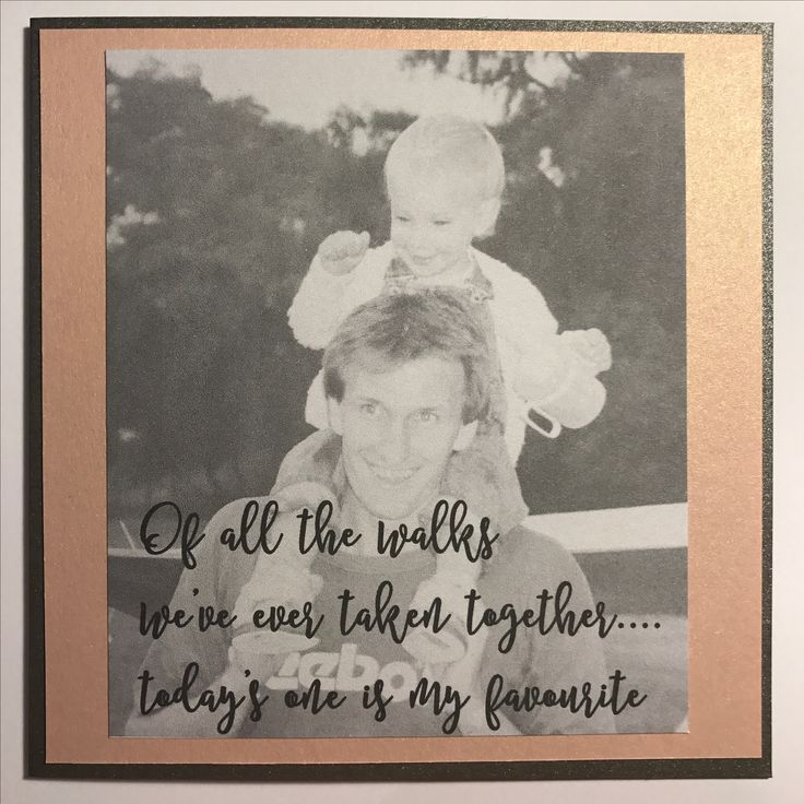 Bride's card to father