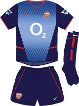 Arsenal FC Football Kit Away Kit 2002-2003