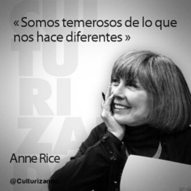 El 04 de octubre de 1941: Nace #AnneRice, escritora estadounidense. #Literatura #Escritora #Leer #Novelas #Libros #Frases #FraseDelDía #FotoDelDía #Citas #Quotes #Cultura #Culturizando #TalDíaComoHoy #Efeméride