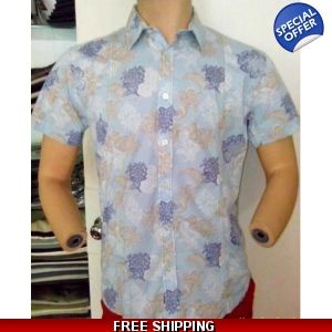 Karl & Kriss Sky Blue Flower Printed Shirt - www.onlinedeals.tk
