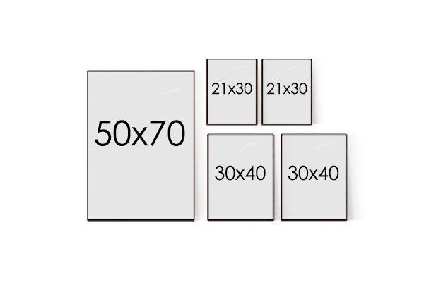 Tavelvägg mall till mindre rum och väggar