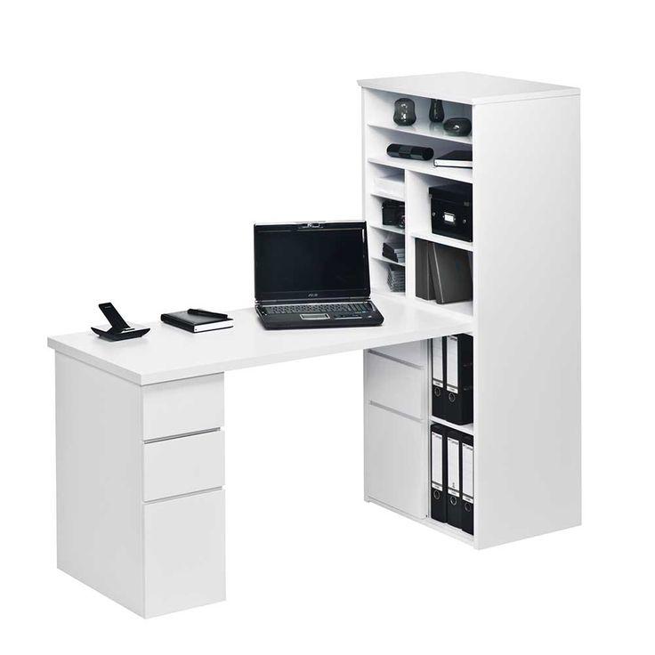 Schreibtisch weiß mit regal  Die besten 25+ Schreibtisch weiß hochglanz Ideen auf Pinterest ...