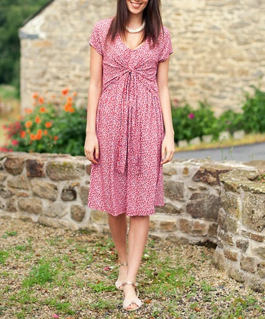Take a look at this red floral maternity amp nursing dress by jojo maman