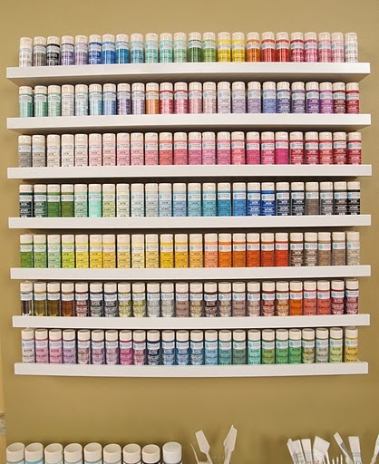 not only do i need the entire martha stewart craft paint collection, i need ikea ribba shelves to hold them