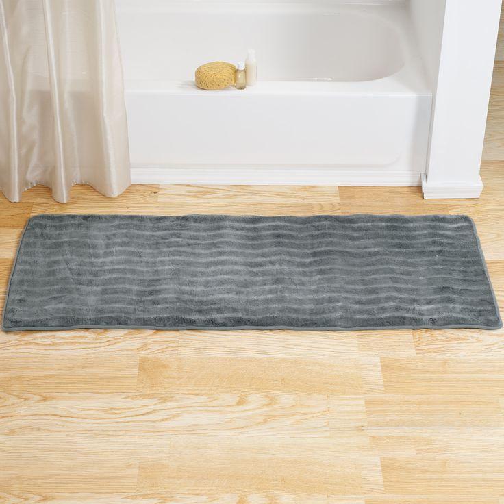 Trademark Windsor Home Memory Foam Extra Long Bath Rug Mat