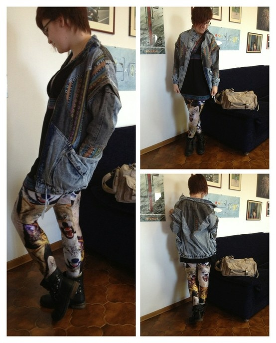 OOTD with Choies Denim Oversized Jacket and Lovelysally Il Branco Leggings! :)
