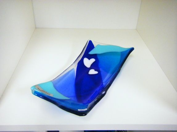 Eplabiter - Glas bowl art serving food  Glassfat Nr 199 http://epla.no/shops/elisabethsglassdesign/