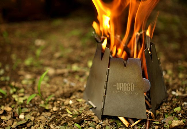 Titanium Hexagon Backpacking Wood Stove / VARGO - 120g