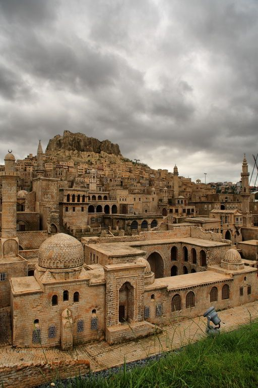 The famous stone houses of Mardin, Turkey