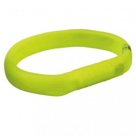 Collier lumineux en silicone pour chien vert