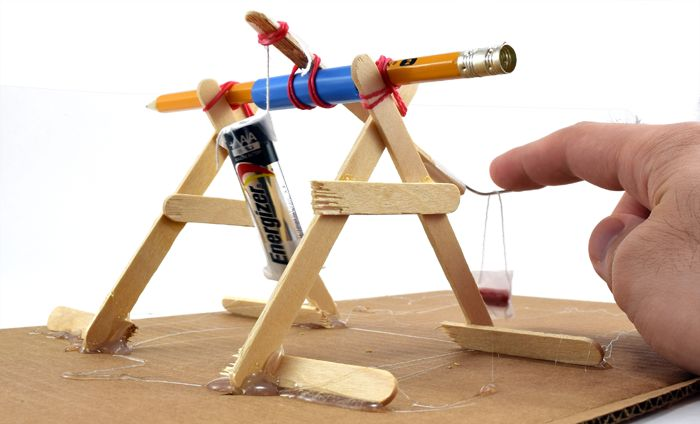 Mini Trebuchet Science / Hands-on Physics Activity