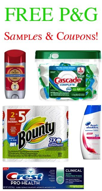 FREE P&G Samples and Coupons!!