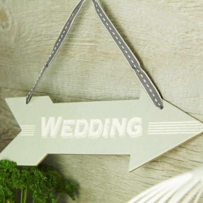 Flecha de cartón Wedding