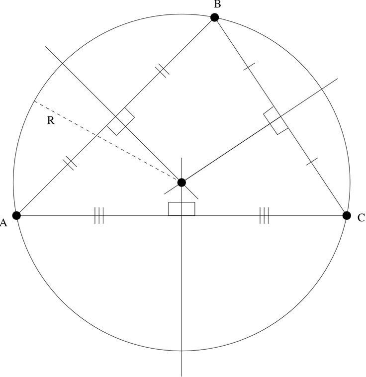 6458번: Circle Through Three Points