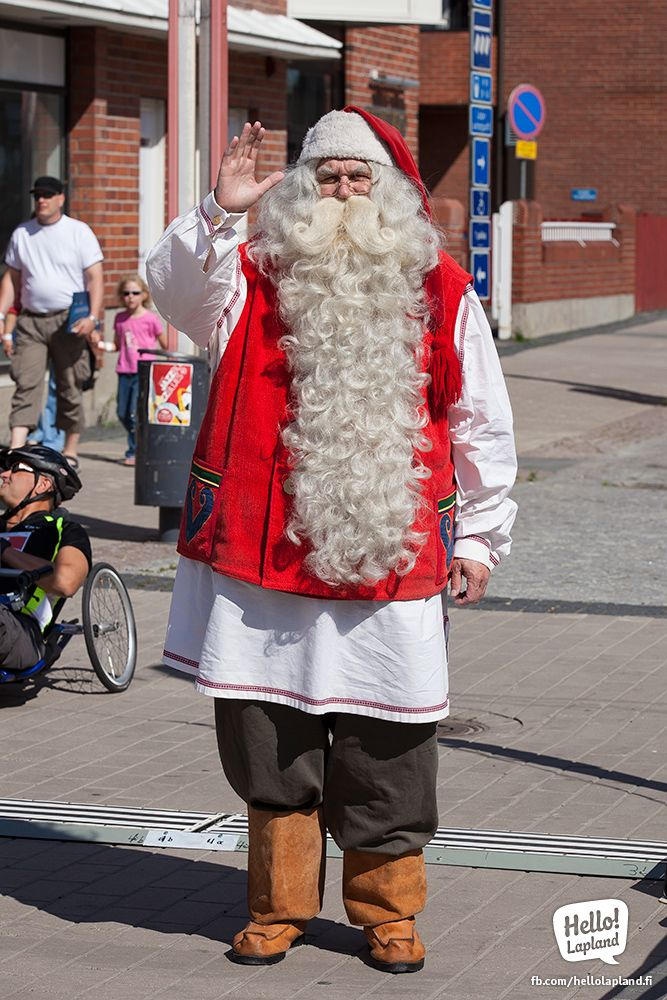 Santa Claus in Rovaniemi City. Summer 2013.
