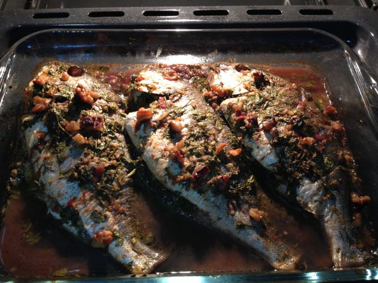 Denise fish in oven