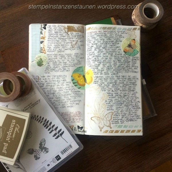 Midori Traveler's Notebook, TNB, Journal, Organizer, Diary, Stampin Up, SU, Berlin, Choose Happiness, Vintage, Vintagestyle, stempeln, stanzen, staunen, Everything , Butterfly
