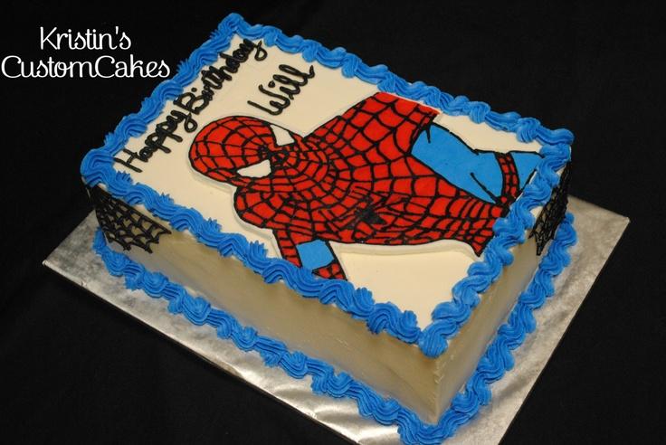 spiderman sheet cake