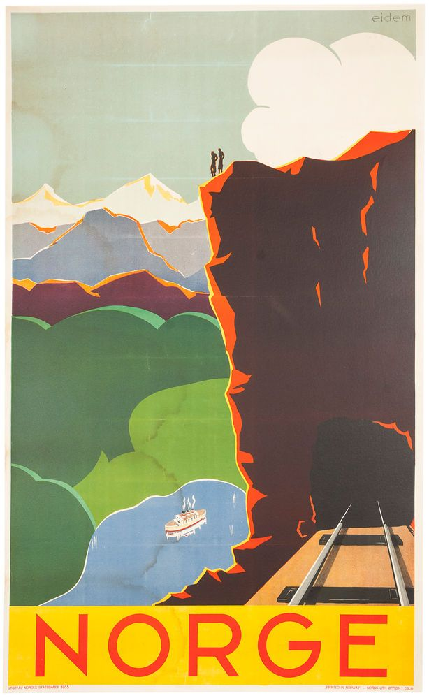 Norge. Norway Travel Poster