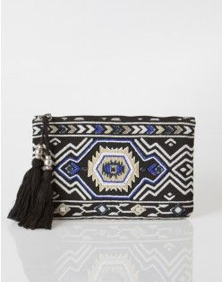 1.2.3 Paris - Les accessoires printemps été 2014 - Pochette ethnique Idrice 69€ #123paris #mode