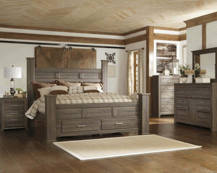 our new king sized bed and night stands juararo poster storage bedroom set