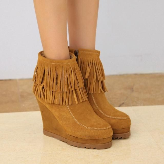 Vivi vintage tassel boots platform women's shoes ultra high heels platform wedge boots female 2014 Check more at http://clothing.ecommerceoutlet.com/products/vivi-vintage-tassel-boots-platform-womens-shoes-ultra-high-heels-platform-wedge-boots-female-2014/