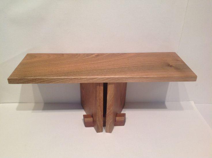 Portable Meditation Stool, Folding Meditation Bench handmade from walnut by AikiCrafts on Etsy