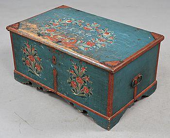 320592. KISTA, Allmoge, 1800 Tal. U2013 Bukowskis Market · Painted TrunkPainted  BoxesPainted FurnitureSwedish ...