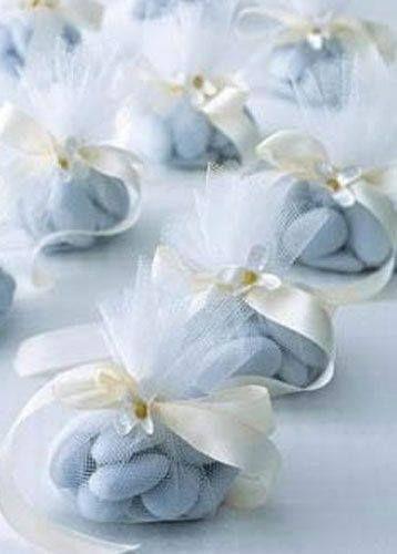 Baby Blue Jordan Almonds (wedding favors) ~ Ana Rosa