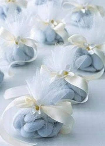 Baby Blue Jordan Almonds (wedding favors) ~ Ana Rosa