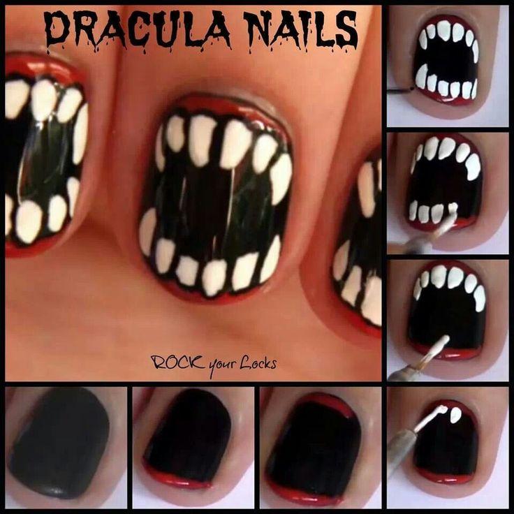 37 best ongles 0 images on pinterest nail art classy nails halloween fangs nail art for short nails vampirewerewolf halloween nails gustafsson gustafsson gustafsson liessa hoff prinsesfo Choice Image