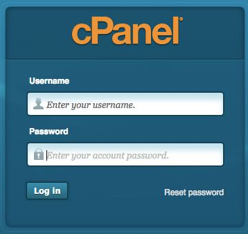 Now, log into the control panel using the username and auto-generated password contained in your hosting account information email.