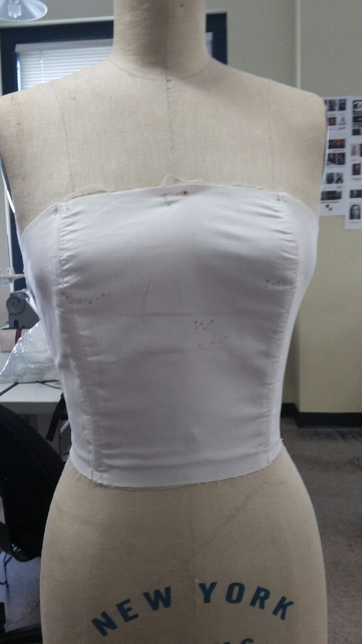 Bustier I made for school.
