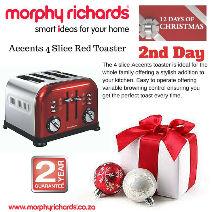 2nd Day - Accents 4 Slice Red Toaster