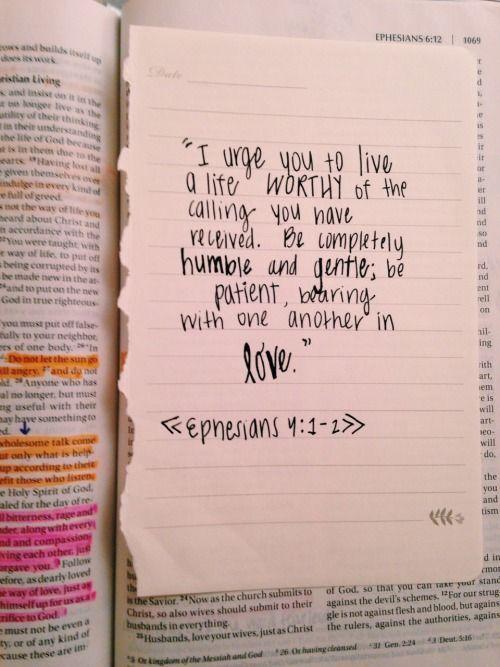 Ephesians 4:1-2