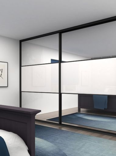 Classic - Mirror doors with arctic white glass split panels \u0026 black frame. Contemporary styled mirror doors with arctic white glass split panels and black ... & 15 best Mirror Sliding Doors - with a hint of interest images on ...