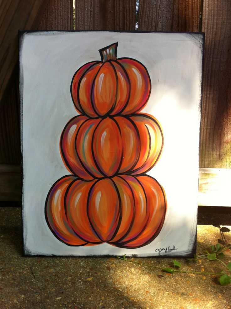 acrylic pumpkins painting | pumpkin painting