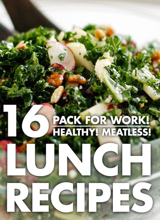 16 healthy recipes that pack well for lunch! All vegetarian