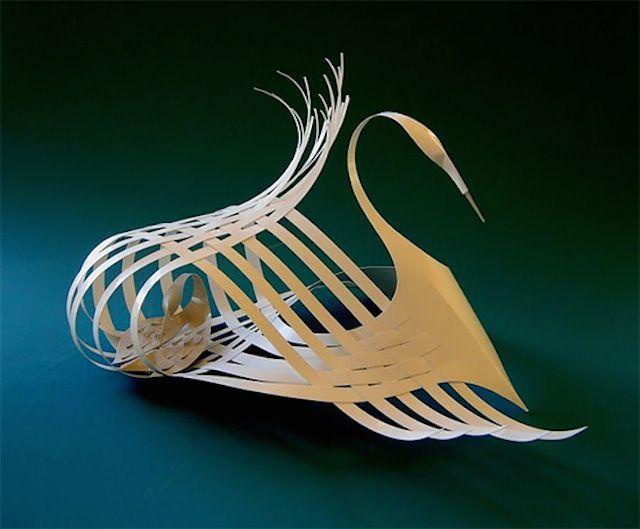 Paper swan, by Bijian Fan